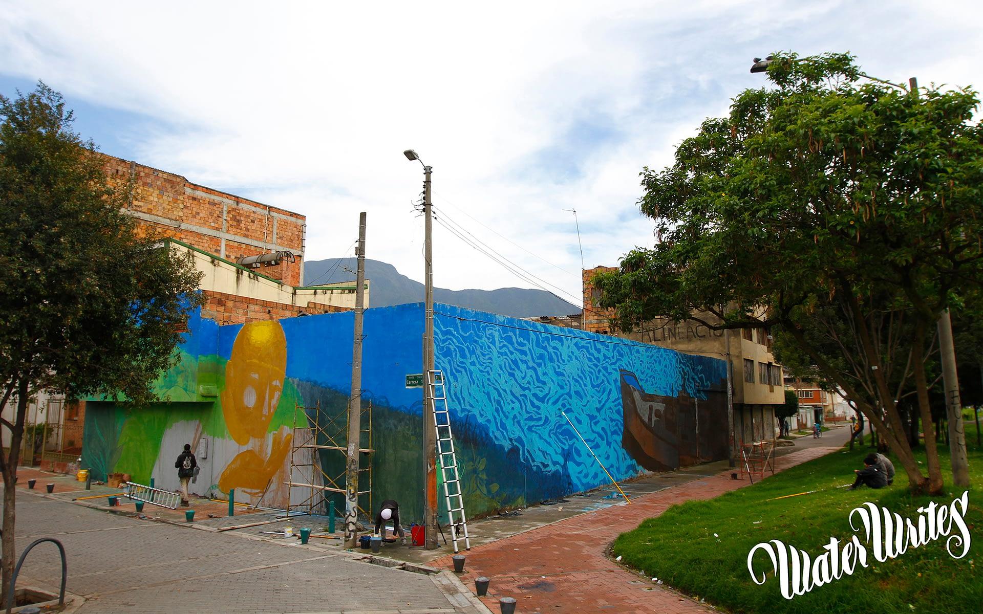 Water Writes Bogota, Colombia