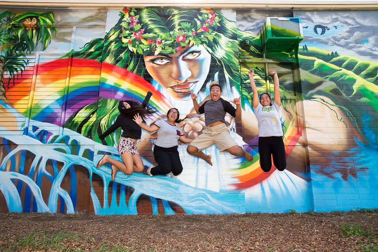 Mele Murals at Kaimuki High School